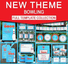 bowling birthday party invitations u0026 decorations