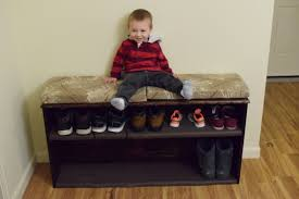 Small Bench With Shoe Storage by Entry Bench With Shoe Storage Diy With Chris Alaska Edition Youtube