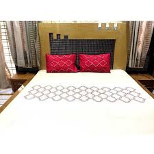 what is the best material for bed sheets designer bed sheets embroidered bedsheets r k designs jaipur