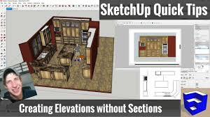 Quick Floor Plan Creator Creating Sketchup Elevations For Layout Without Section Cuts
