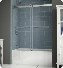 Sliding Bathtub Shower Doors Fleurco Npt60 11 40 Gemini Plus Frameless Bypass Sliding Tub Doors