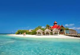 new all inclusive overwater bungalows just off the coast of