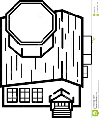 library building illustration clean lines stock illustration