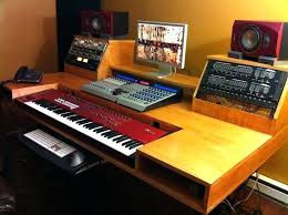 Diy Studio Desk Home Recording Desk Studio Desks Throughout Simple