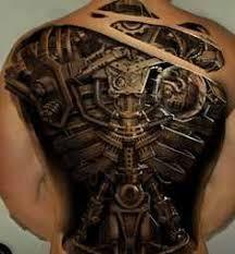 full back biomechanical tattoo design of tattoosdesign of tattoos