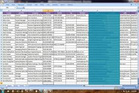 business card exle do business card contact info entities in excel or csv file for 5