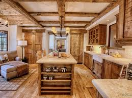 Cabin Kitchen Cabinets Kitchen 25 Appealing Cabin Kitchen With Wood Elements And