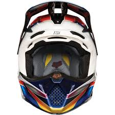 fox helmet motocross 2018 fox racing v3 kustm helmet multi sixstar racing