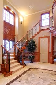 Stairs In House by Grand Staircase In A Luxury American House Stock Photo Picture
