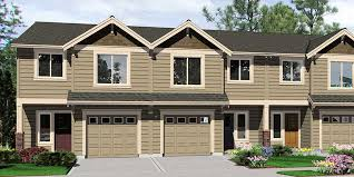 multi family house plans triplex guest house with garage plans triplex house plans multi family homes