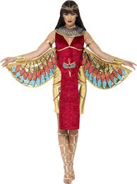 ladies egyptian goddess costume queen halloween fancy dress egypt