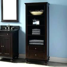 Bathroom Linen Shelves Bathroom Linen Tower Cabinet Chaseblackwell Co