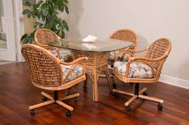 Swivel Tilt Dining Chairs by Marli Vintage Rattan Cafe Kitchen Dining Chairs With Cushion Black