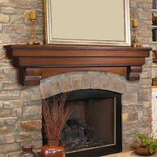 Wood Mantel Shelf Plans by Pearl Mantels Shenandoah Traditional Fireplace Mantel Shelf