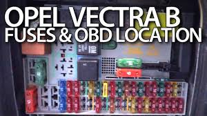 where are fuses and obd port in opel vectra b vauxhall relays