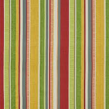 home decor fabrics by the yard green yellow red and blue striped outdoor print upholstery