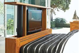 Tv Bed Frames Vision Rimu King Tv Bed Frame By Ezirest Furniture Harvey Norman