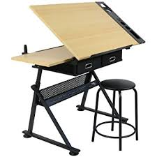 bureau dessinateur hartleys planche a dessin entièrement réglable bureau tabouret