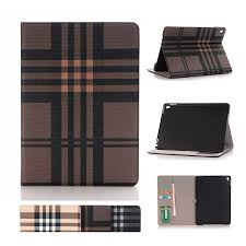 compare prices on ipad book stand online shopping buy low price for funda ipad pro 9 7 case luxury plaid book stand leather case cover for ipad pro