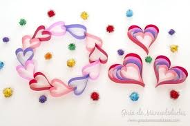 Decorative Hearts For The Home Paper Hearts For Valentine Simple Craft Ideas