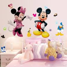 small decor cartoon mickey minnie mouse girls gift kids art baby