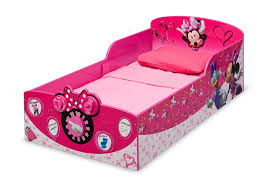 Minnie Mouse Toddler Bed Frame Minnie Mouse Interactive Wood Toddler Bed Delta Children