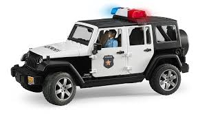 light brown jeep amazon com jeep rubicon police car with policeman toys u0026 games