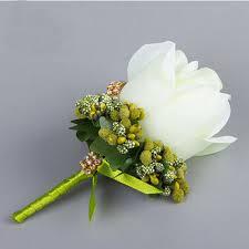 Corsage Flowers Aliexpress Com Buy 5pcs Set Hand Made Groom Groomsman