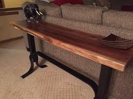 Walnut Live Edge Table by Walnut Live Edge Sofa Table Ohio Hardwood Furniture