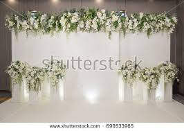 wedding backdrop pictures wedding backdrop flower wedding decoration stock photo 699533965