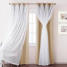 windows treatment white sheer voile pony dance mix and match