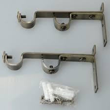 Adjustable Double Curtain Rod Brackets Cheap Double Drapery Rod Bracket Find Double Drapery Rod Bracket