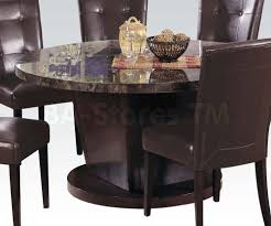 danville 54 round marble top dining table black dining acme white