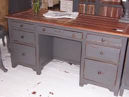 Distressed Office Desk Wonderful Distressed Wood Office Desk Adammayfieldco Pertaining To