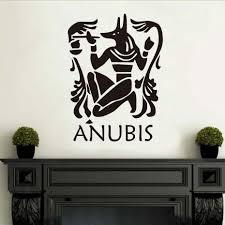anubis wall sticker home decor diy the egyptian jackal wallpaper