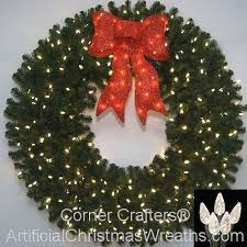 lighted christmas wreath 60 inch l e d lighted christmas wreath cornercrafters