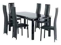 Black Glass Extending Dining Table 6 Chairs Black Glass Dining Table Dining Room Table And Chairs