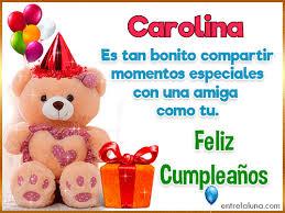 imagenes de feliz cumpleaños carito 14 gifs de cumpleaños con nombre para carolina