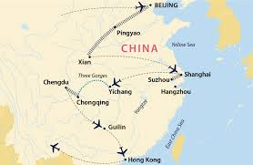 Xi An China Map by Grand Tour Of China China Jules Verne