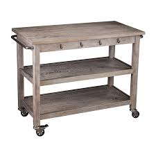 industrial iron wood kitchen trolley natural black buy kitchen shop kitchen islands carts at lowes com
