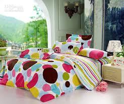 Polka Dot Bed Set Design Bedroom With Strips Polka Dot Nature Bedding Sets