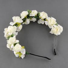 flower hair band flower garland floral bridal headband hairband wedding prom hair