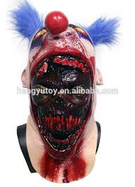 scary coulrophobia bloody gory clown skin on serial killer