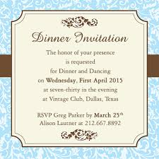 dinner invitation sle dinner party invitations bf digital printing