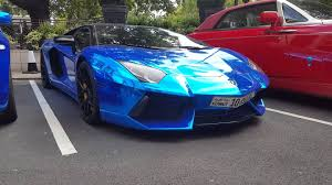 Lamborghini Veneno Galaxy - london supercars chrome blue lamborghini aventador sv mercedes