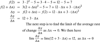 How To Find The Rate Of Change In A Table Calculus The Formula For A Derivative Students Britannica