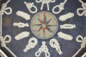 themed wall clock nautical themed knots as numbers battery operated wall clock