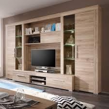Wohnzimmer Modern Eiche Gemütliche Innenarchitektur Wohnzimmer Schrankwand Design