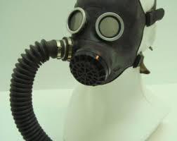 Soviet Halloween Costume Black Gas Mask Hose Etsy