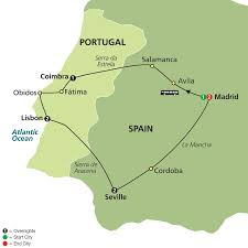 Portugal Spain Map by Spain And Portugal Highlights Tour 8 Nights 9 Days Combined Tour
